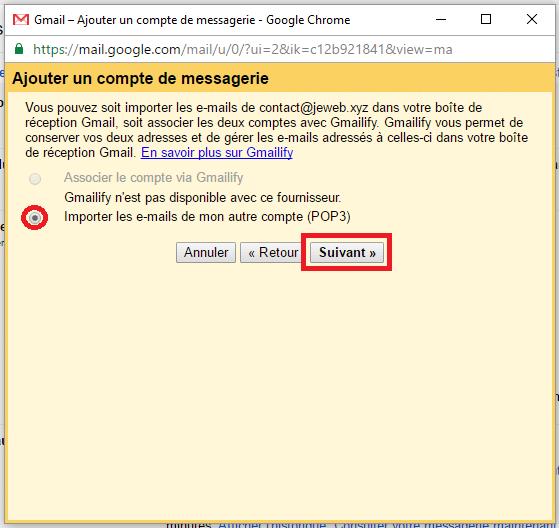 Importe les emails d'un autre compte sur Gmail