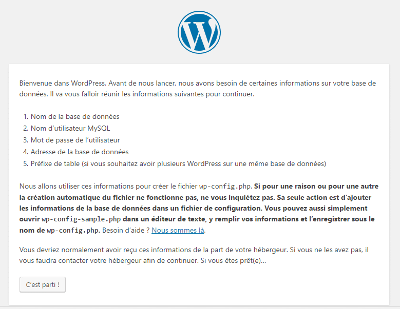 On désormais peut installer WordPress
