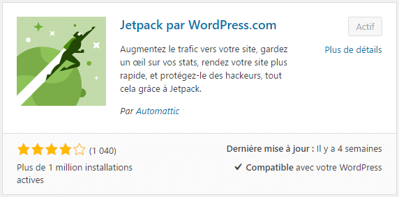Plugin WordPress : JetPack