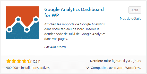 Plugin WordPress pour installer Google Analytics