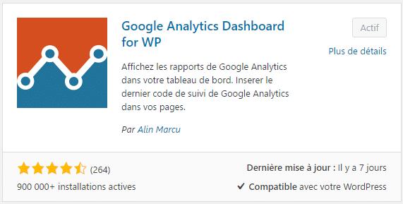Plugin WordPress pour installer Google Analytics