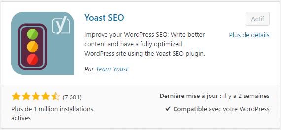 Plugin WordPress Yoast SEO, pour optimiser le référencement des sites WP