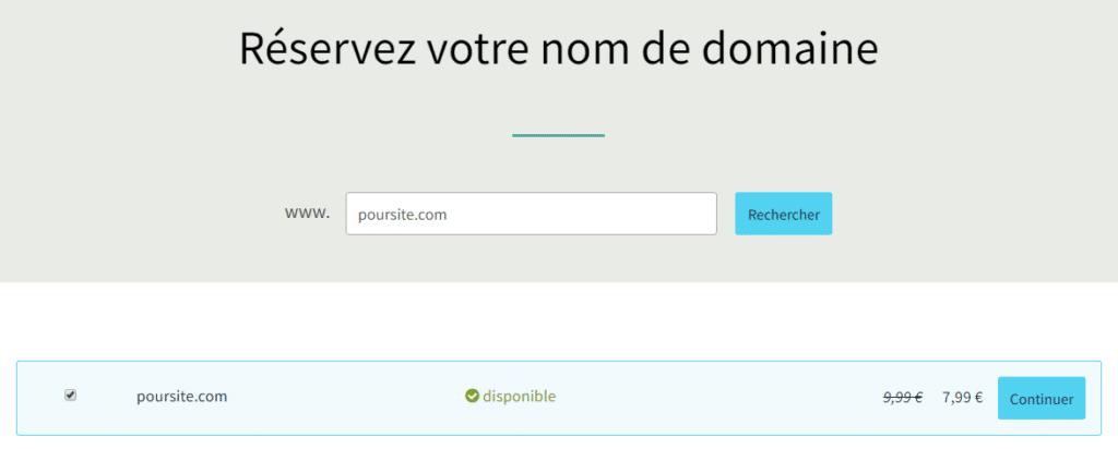 Choisir le nom de domaine de son site sur OVH