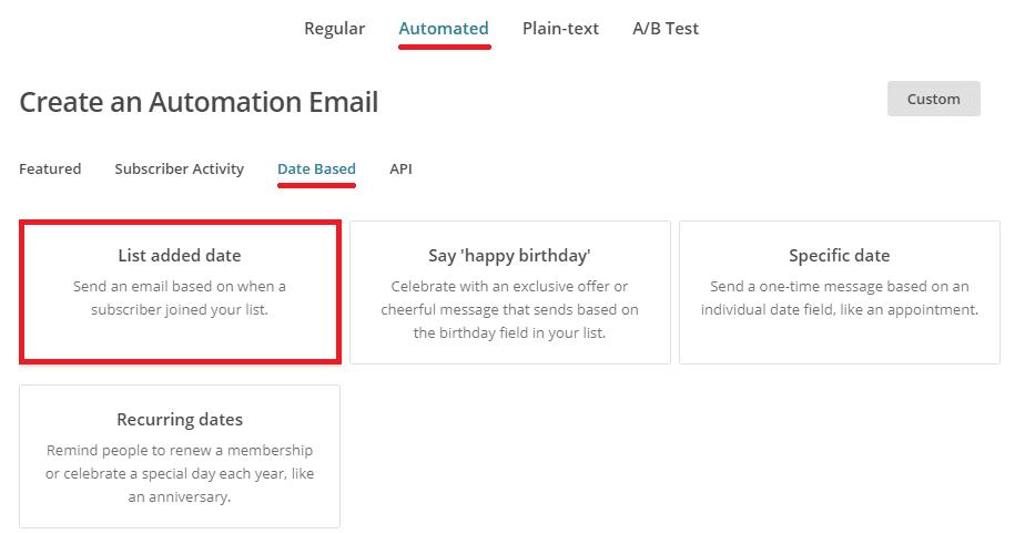 Créer une série d'emails automatique sur MailChimp