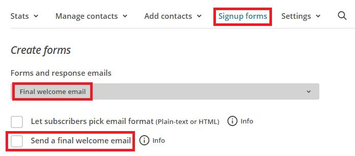 Activer le mail de bienvenue sur MailChimp