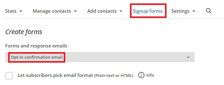 Personnaliser le mail de confirmation de MailChimp