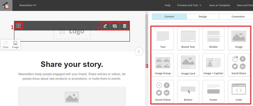 Personnaliser le design de la newsletter sur MailChimp