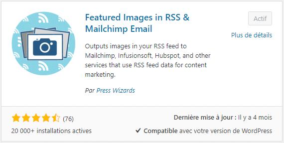 Plugin WordPress pour afficher les images dans le flux RSS
