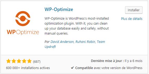 Plugin WordPress pour nettoyer la base de données