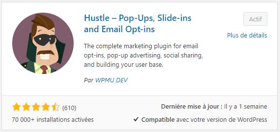 Hustle collecteur d'adresses mails
