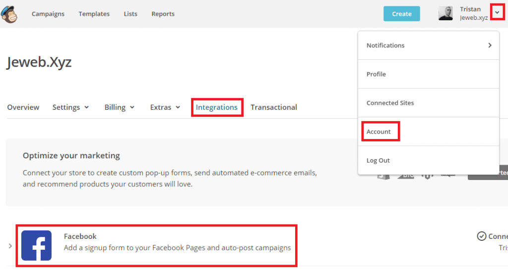 Installer un formulaire de capture d'emails MailChimp sur Facebook