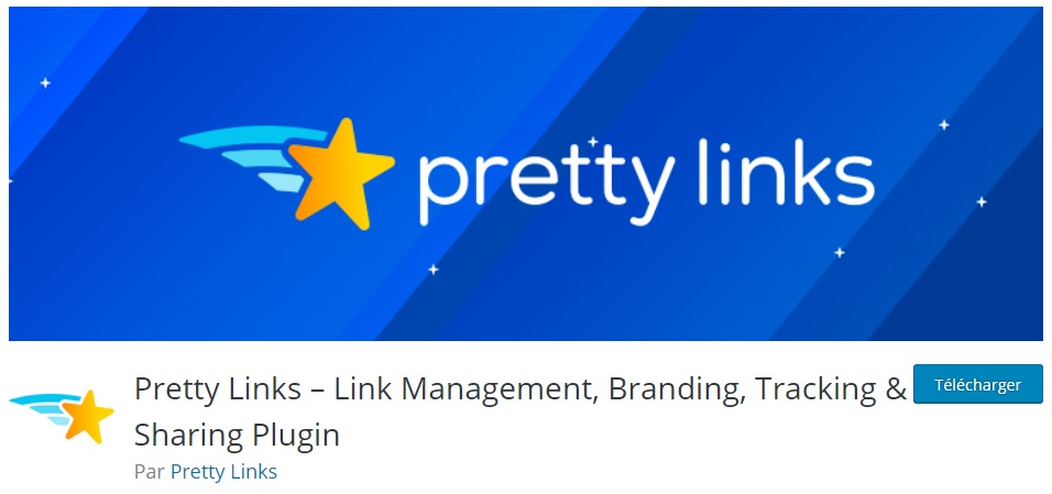 PrettyLinks - Plugin de gestion de liens d'affiliés WordPress